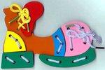 """Шнуровка """"Ботинок"""". Развивающая игрушка для детей"""