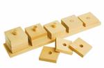 """Пирамидка счетная """"Домино"""". Развивающая деревянная игрушка для обучения счету"""
