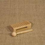 Ребристая коробочка. Расписной русский народный музыкальный инструмент