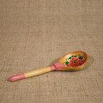 Расписная деревянная ложка. Шумовой музыкальный инструмент