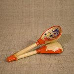 Ложки в станке. Деревянный расписной музыкальный инструмент