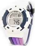 Водонепроницаемые спортивные электронные часы Тик-Так. С подсветкой, будильником и индикатором УФ излучения на браслете