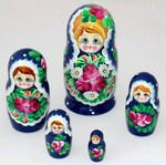 Матрешка 5 в 1. Русская народная игрушка