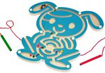 Зайка. Магнитный лабиринт. Развивающая игрушка для детей