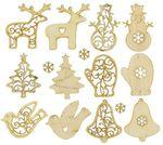 Новогодние чудеса. Набор деревянных игрушек на елку