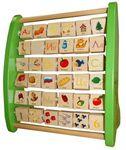 Азбука с подвижными картинками. Обучающая деревянная игрушка