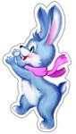 Зайчонок. Фигурный плакат для оформления