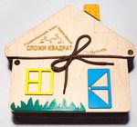 Сложи квадрат. Занимательная деревянная головоломка для детей. 36 заданий. В цветной коробке