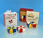 Сложи узор. Развивающая игра Никитиных. Кубики в цветной деревянной коробке