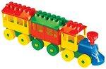 Паровоз с двумя вагонами. Конструктор для детей
