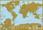 Мир. Географическая скретч карта