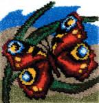 Танец бабочки. Вышивание в ковровой технике