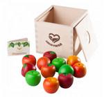 Яблочки. Счетный материал в деревянной коробочке-сортер