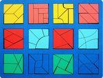 Сложи квадрат. 3 уровень. Развивающая игрушка для детей от 5 лет