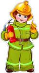 Пожарный. Фигурный плакат с глиттером