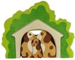 """Собачки в домике. Объемный пазл """"Сказки дерева """""""