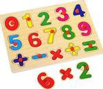 Рамки-вкладыши для малышей Цифры и арифметические знаки