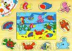 Рыбалка на магнитах + пазл из 6 деталей. Развивающая игрушка для малышей