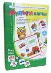 """Набор детских развивающих игр  """"Мультикарты"""" (цвет, счет, рифмы). 6 логических игр для детей от 3 до 5 лет."""