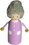 Пальчиковая игрушка Бабушка