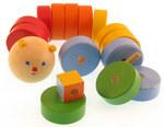 Игра-шнуровка для детей Веселая гусеница