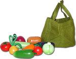 Набор игрушечных овощей (из дерева)