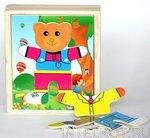 """Логические пазлы для детей """"Одень медвежат"""" Мишка"""