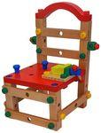 Деревянный конструктор Собери стул (с набором инструментов)