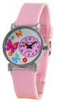 Детские часы для девочки Бабочка (с объемным рисунком на циферблате)
