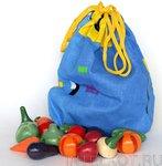 Волшебный мешочек Овощи цветные. Счетный материал для малышей