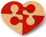 Неразберишка Сердце. Деревянная головоломка