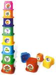 Пирамидка Теремок. Пластмассовые формочки для малышей