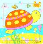 Детский пазл в рамке Черепаха (9 деталей)