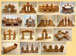 """Большой набор строительных деталей для конструирования """"Развитие"""""""