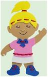 Шнуровка «Девочка». Развивающая игрушка для детей из мягкого полимера