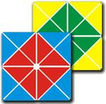 Квадратные забавы. Четырехцветный квадрат Воскобовича. Развивающая игра для детей