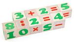 Цифры и знаки. Деревянные кубики