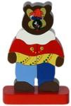Пирамидка Топтыгин. Деревянная игрушка с авторской росписью