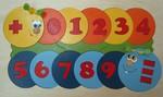 Мозаика из дерева «Учимся считать». Обучающая игрушка для детей расписанная вручную